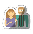 couple love together family vector image