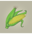 Ear of corn pop art retro vector image vector image