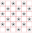 Football Ball Red Grid White Background vector image vector image