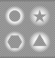 geometric light effects light frames template vector image vector image