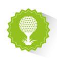 golf sport emblem icon vector image vector image