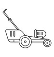 grass cutter icon outline style vector image vector image