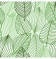 green foliage seamless pattern outline leaves vector image vector image