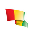 guinea flag on a white vector image vector image