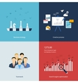 Icons for business strategy teamwork workflow vector image vector image