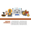 indian symbols promo web banner with sample text vector image vector image