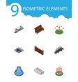 isometric architecture set of highway swing vector image vector image