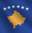 Kosovo flag vector image vector image