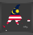 labuan malaysia map with malaysian national flag vector image vector image