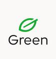 leaf letter g logo vector image