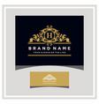 letter h logo design concept royal luxury gold vector image vector image