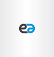 logo letter e and a combination icon vector image vector image