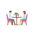 man and woman holding glasses with wine vector image vector image