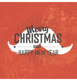 merry christmas vintage greeting vector image vector image