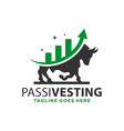 modern investment bull logo vector image vector image