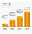 money business plan infographic flat design vector image