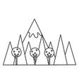 mountainous landscape scene icon vector image