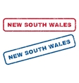New South Wales Rubber Stamps vector image vector image