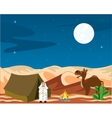 Nomad in desert vector image vector image