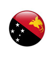 papua new guinea flag on button vector image vector image