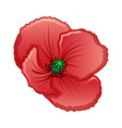 poppy icon cartoon style vector image vector image