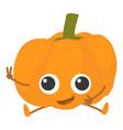 pumpkin icon cartoon style vector image vector image