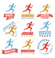 running logos color vector image vector image