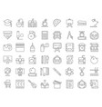 school and education related icon set vector image