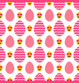 seamless pattern of pink easter eggs with heart vector image
