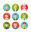 set flat portraits icons with people vector image