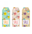 Set of sale tags with hangers vector image vector image