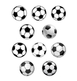 Set of soccer and football balls vector image vector image