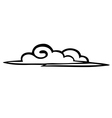 Sketch clouds on a white background icon vector image vector image