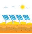 solar panels in desert vector image