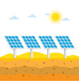 solar panels in the desert vector image