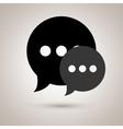 speech bubble icon design vector image vector image
