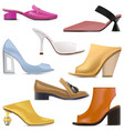 spring female shoes icons vector image