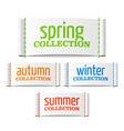 spring summer autumn and winter collection labels vector image vector image