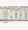 stalactite stalagmite colum vector image