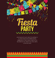 stylish colorful poster calling to fiesta vector image vector image