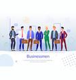 successful businessmen team flat poster vector image