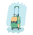 suitcase for travel isolated on white background vector image vector image