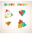 Template of a Purim box for Purim Gift vector image vector image