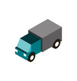 transport truck cargo vehicle isometric icon vector image vector image