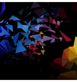 Triangles explosion background poligonal-art vector image