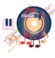 world music day disc sounds planet of global vector image vector image