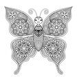 Zentangle Butterfly for adult anti stress vector image