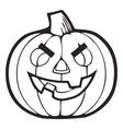 Monochrome Decorative pumpkin Thanksgiving vector image