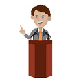 Orator Standing On Podium vector image