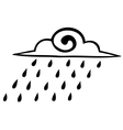 Sketch rain clouds on a white background icon vector image